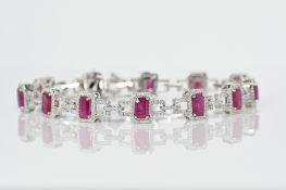 Ruby & Diamond Bracelet