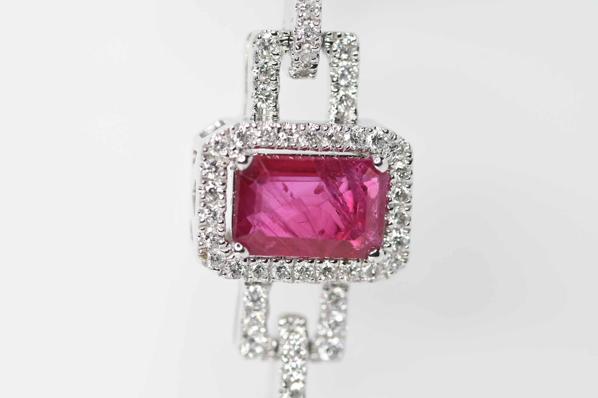 Ruby & Diamond Bracelet - Image 3 of 3