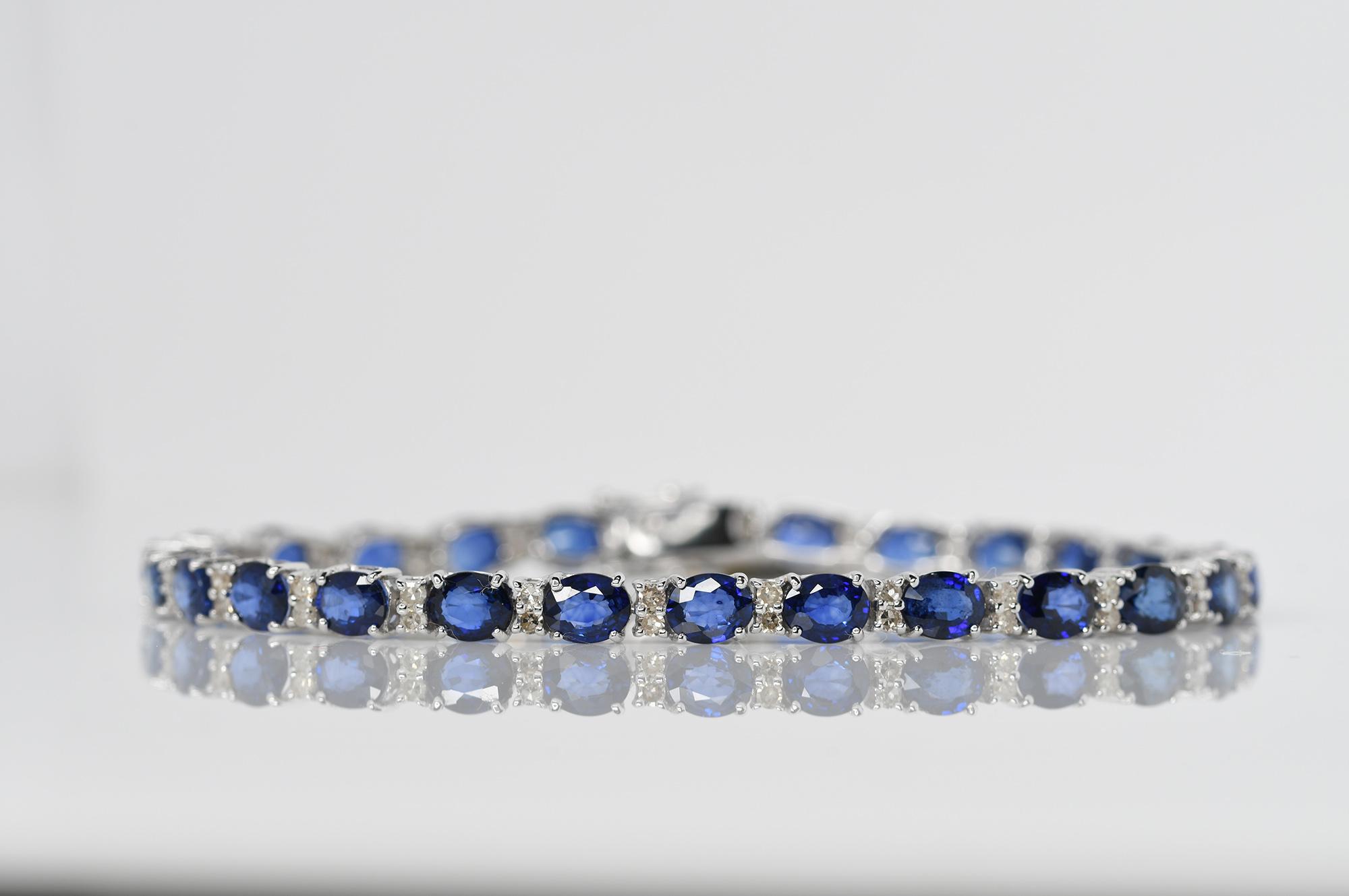 Sapphire & Diamond Bracelet - Image 2 of 4