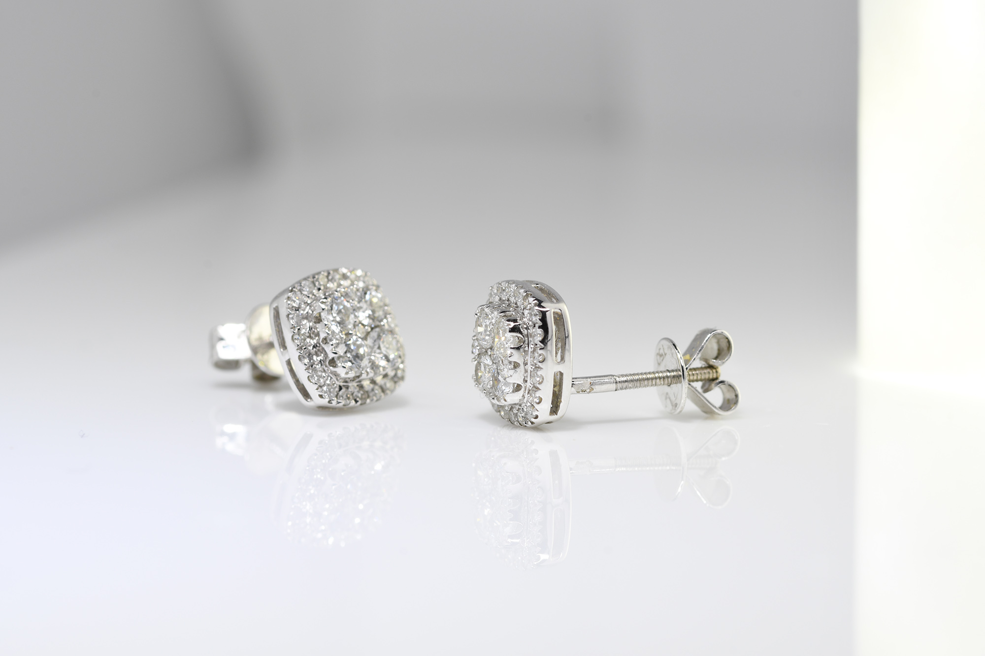 Diamond Earrings - Image 2 of 2
