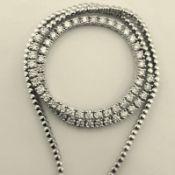 14K White Gold Half Eternity Necklace 3,30 ct