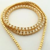 14K Yellow Gold Half Eternity Necklace 3,20 ct