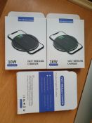 3 x Brand New Super Fast 10W Wireless Charger for Apple Samsung Huawei LG etc RRP£45