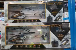 3 x red5 gyro flyer xl rc helicopter
