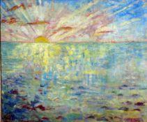 Bengen, Harold T., Sommerabend, Öl, 49 x 58, signiert