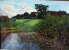 Eicken, Elisabeth v., am Bodden, Öl, 50 x 70, signiert