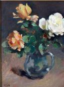 Holtz-Sommer, Hedwig, Rosen in Glaskrug, Öl, 43 x 30, mg
