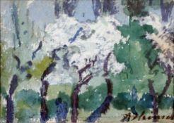 Heinsohn, Alfred, Frühling, Öl, 6 x 9, sign.