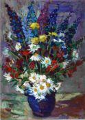 Beyer, Tom, Blumenstrauss, Öl, 74 x 53, signiert