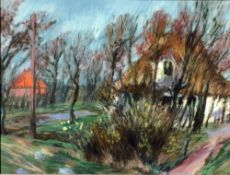 Eicken, Elisabeth v., Ahrenshoop, Pastell, 42 x 56, sign.