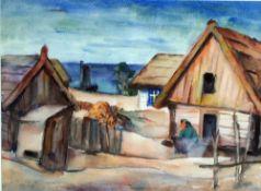 Ahnert-Hippold, Gussy, Am Bodden, Mt, 34 x 47, sig (Ahrenshoop)