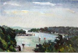 Gimpel, Bruno, Am See, Aqua, 31 x 46, sign.