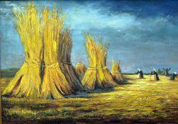 Büchsel, Elisabeth, Ernte, Öl, 48 x 68, signiert