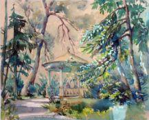Hitz, Dora, Pavillon, Aquarell, 38 x 47, sign.
