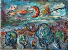 Degner, Arthur, Abendspaziergang, Öl, 16 x 22, sign.
