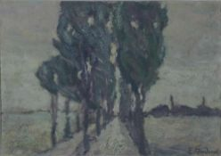 Andrae, Elisabeth, Allee, sign. 16 x 23 Öl