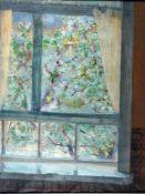 Jacoby, Meinhard, Fensterblick, signiert, 59 x46 Öl