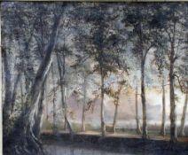 Eicken, El. v., Allee im Wald, monogr. , 26 x 31 Öl