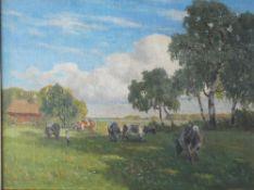 Müller-Kaempff, P. Weide b. Ahrenshoop, sign. 60 x 80 Öl