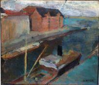 Heuser, Heinrich Hafen, signiert, 40 x 45 Öl
