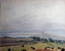Bonge, Irmgard v., Inselblick Hiddensee, 1932, 34 x 46, Aquarell