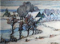 Balzer, Thuro, Winter im Dorf, 31 x 42, sign., Mt