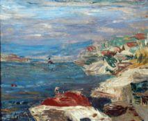 Levin, Julo, am Meer, signiert 22 x 26 Öl