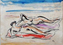 Löber, Frida Am Strand, monog. 23 x 32 Mt