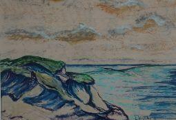 Wolfthorn, Julie Hiddensee, signiert 24 x 35 Mischt.