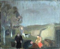 Holtz-Sommer, H. Skizze fürs Theater, NlSt 30 x 37 Öl