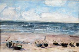 Arnheim, Clara, Fischerboote, sign., 20 x 30, Aquarell