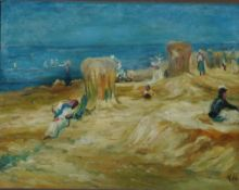 Hensel, Kurt Am Strand, monog. 29 x 39 Öl