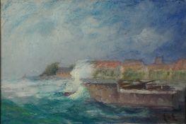 Eicken, El. v. Sturm, sign. 19 x 28 Öl