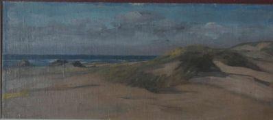 Hennemann, Karl In den Dünen, Nachlst 20 x 48 Öl