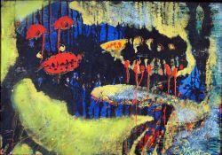 Kesting, Edm. Fische, sign. 53 x 76 Öl