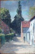 Licht, Hans Dorfstraße, monog. 48 x 32 Öl