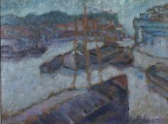 Koch-Stetter, D. Im Hafen, signiert 28 x 38 Mt