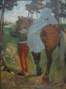 Jacoby, Meinh., Prinzessin u. Knappe, Nachlst, 69 x 52 Öl
