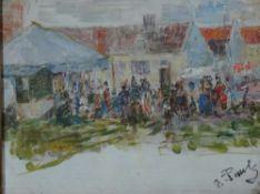 Pauls, Else Dorffest, sign. 13 x 17 Öl