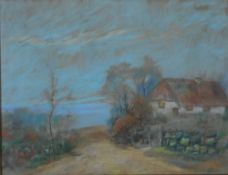 Eicken, Elisabeth v. Kate am Bodden, sign 46 x 60 Pastell