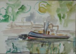 Levin, Julo Schlepper, sign 27 x 37 Aquarell