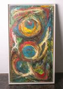 Zimmer, Hans Peter/HP (1936 - 1992), Abtraktes Gemälde, Öl/Holzplatte, li. u. sign.