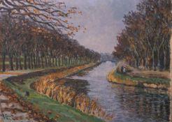 Lorenz-Mellenbach, Richard Ernst wohl (1878-?), Flusslandschaft mit Figurenstaffage