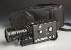 """Filmkamera """"Leicina Spezial"""" von Leitz (1977), vollelektronische Super 8-Filmkamera,"""