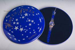 """Swatch-Armbanduhr """"Hocus Pocus"""" (1991), in original Verpackung."""