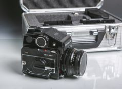 """Spiegelreflexkamera """"Mamiya m645 1000 S"""" (1980er Jahre), Mittelformat, Nr. L 173225,"""