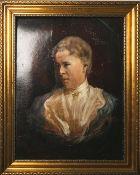 Unbekannter Künstler (wohl 19./20. Jahrhundert), Portrait einer Dame (wohl 1900), Öl auf
