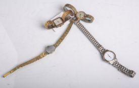 Konvolut Modeschmuck, bestehend aus 4 Damenarmbanduhren (u.a. v. Epora und Glycine),