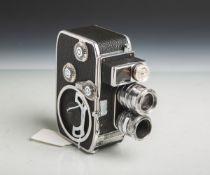 "Filmkamera ""Bolex B8"" von Bolex Paillard (Schweiz, Baujahr 1958 - 1961), 2 Objektive"