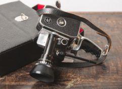 Filmkamera von Bolex Paillard, Zoom Reflex P3, 8 mm, (1963), m. Bedienungsanleitung, im